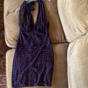 Purple, halter top dress!